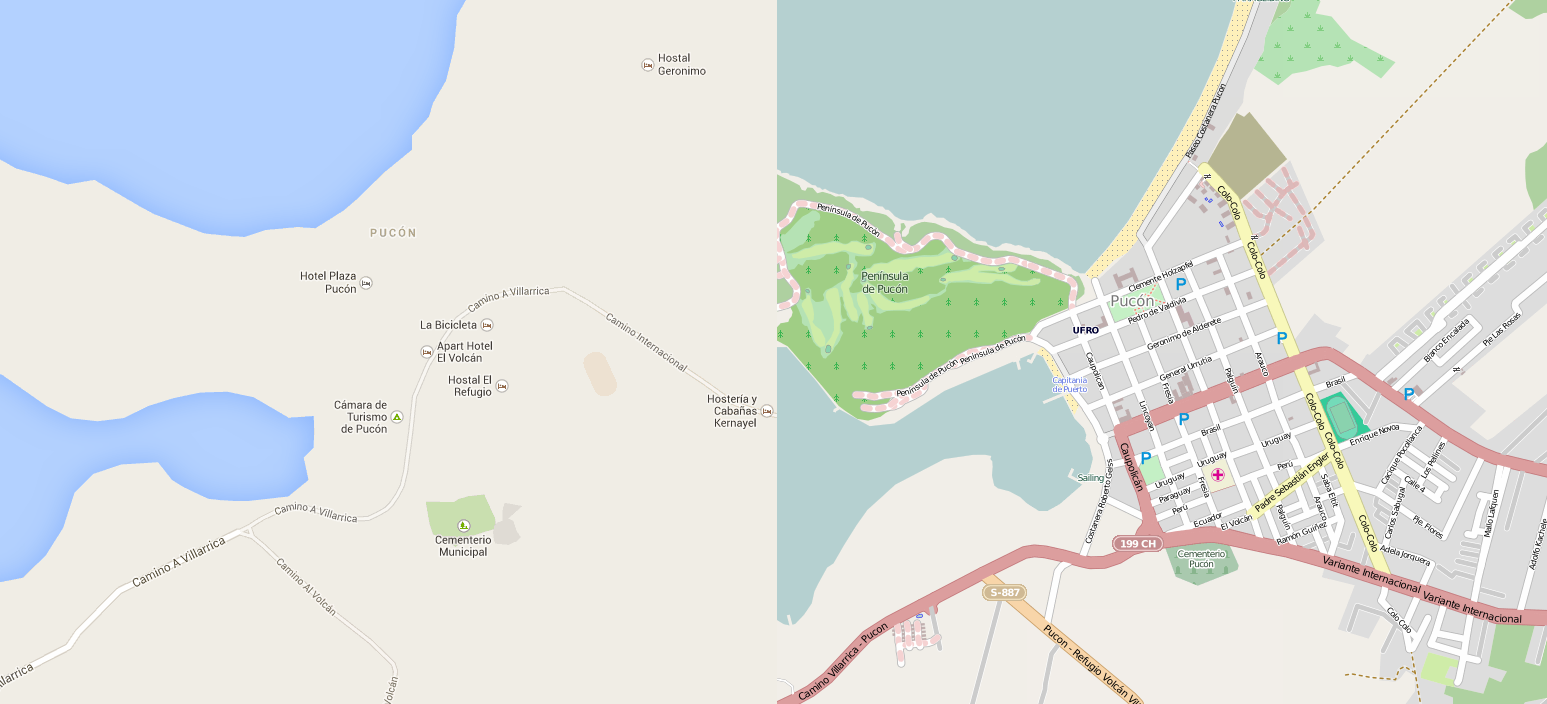 Google Maps Vs. OpenStreetMap